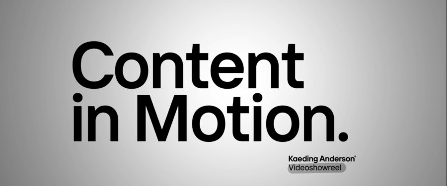 """Showreel """"Content in Motion"""""""